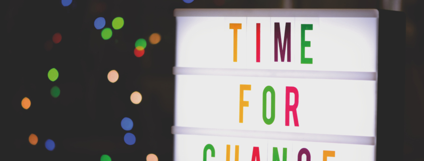 Canva – Time for Change Sign With Led Light